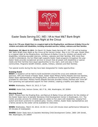 Easter Seals Serving DC | MD | VA to Host M