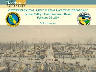 California Geotechnical Levee Evaluation Program                         SAME