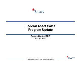 Federal Asset Sales  Program Update