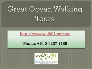 Walk Through Great Ocean Walk