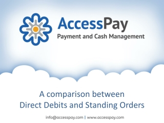A comparison between Direct Debits and Standing Orders