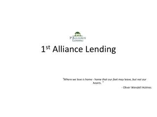 1st Alliance Lending,LLC