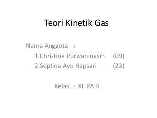 Teori Kinetik Gas
