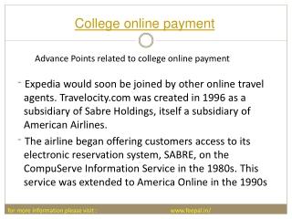 best website for college online pament