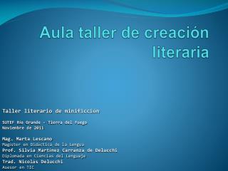 Aula taller de creaci n literaria