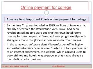 Latest news  Related to how to submited  online payment for