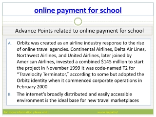 Feepal provide eassy way submited online payment for school