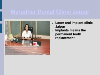 Marudhar Implant and laser dental clinic in Jaipur
