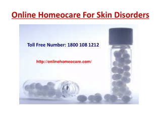 Online Homeopathy Treatment For Skin Disorders