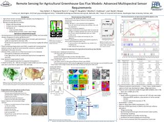 Remote Sensing for Agricultural Greenhouse Gas Flux Models: Advanced Multispectral Sensor Requirements Guy Serbin1, E. R