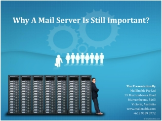 Why A Mail Server Is Still Important?