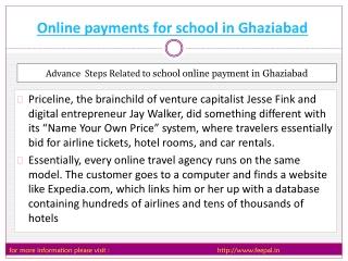 Best sites of online payment for school in Ghaziabad