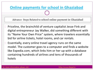 Best sites of online payment for school in Ghaziabad