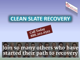 Clean Slate Recovery-Drug addiction treatment in Florida