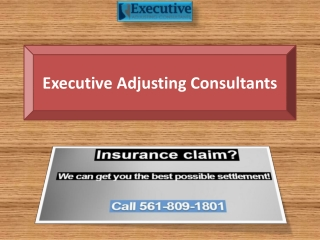 Executive Adjusting Consultants-Public Adjuster Boca Raton