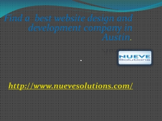 Find  best website design and development company in Austin