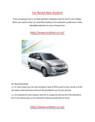 car rental new zealand