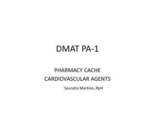 DMAT PA-1