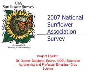 2007 National Sunflower Association Survey
