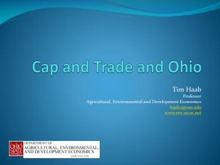 Cap and Trade and Ohio