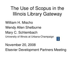 The Use of Scopus in the Illinois Library Gateway