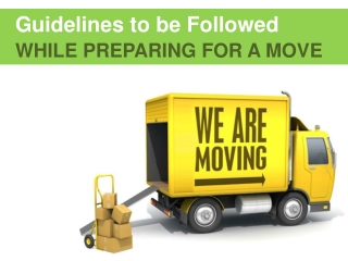 Preparation and packing tips for moving