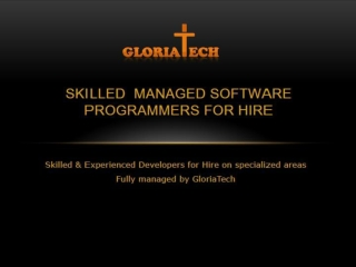 gloriatech development