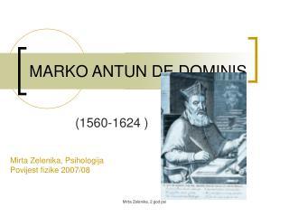 MARKO ANTUN DE DOMINIS
