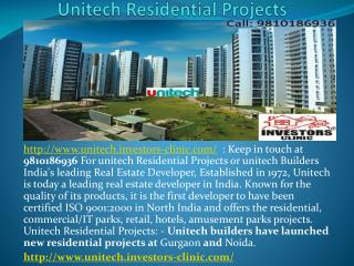 unitech real estate projects, unitech flats, 9810186936, inv