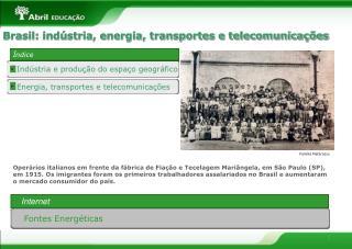 Energia, transportes e telecomunica  es