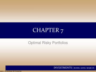 Optimal Risky Portfolios