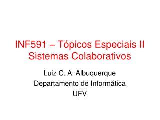INF591   T picos Especiais II Sistemas Colaborativos