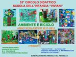 AMBIENTE E RICICLO          ANNO SCOLASTICO 2011-2012