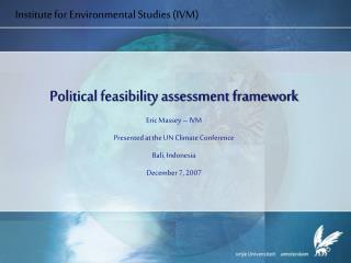 Institute for Environmental Studies IVM