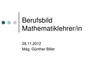 Berufsbild Mathematiklehrer