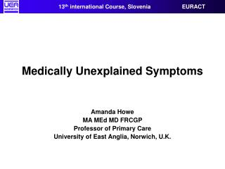 Medically Unexplained Symptoms