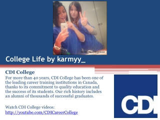 Life at CDI College on Instagram by karmyy_ in Quebec