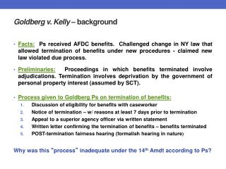 Goldberg v. Kelly   background
