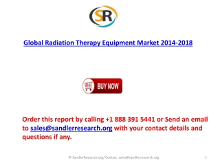 Global Radiation Therapy Equipment Market forecasts 2018