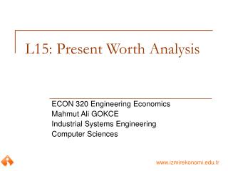 L15: Present Worth Analysis