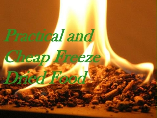 Practical and Cheap Freeze Dried Food