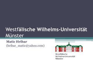 Westf lische Wilhelms-Universit t M nster