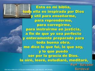 ESCUELA BIBLICA CATOLICA PARROQUIAL SAN MIGUEL ARC NGEL