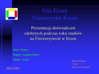 Uni-Essen Uniwersytet Essen