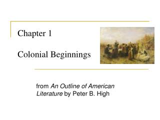 Chapter 1   Colonial Beginnings