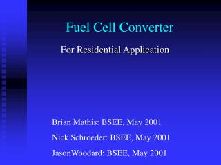 Fuel Cell Converter