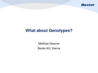 What about Genotypes