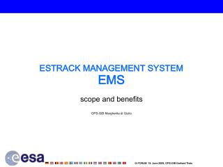 ESTRACK MANAGEMENT SYSTEM EMS