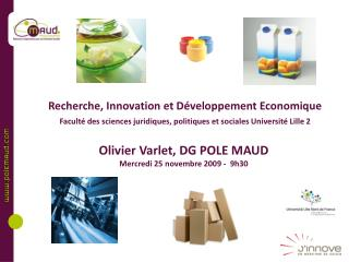 Recherche, Innovation et D veloppement Economique  Facult  des sciences juridiques, politiques et sociales Universit  Li