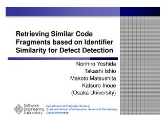 Retrieving Similar Code Fragments based on Identifier Similarity for Defect Detection